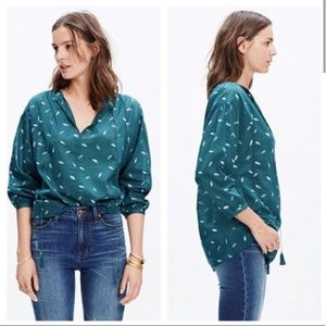 Madewell Fall Feathers Peasant Blouse